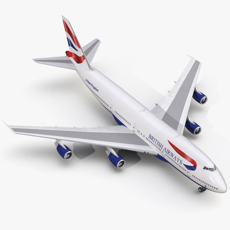 3d model boeing 747 200b british airways