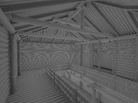 3d ancient log house model