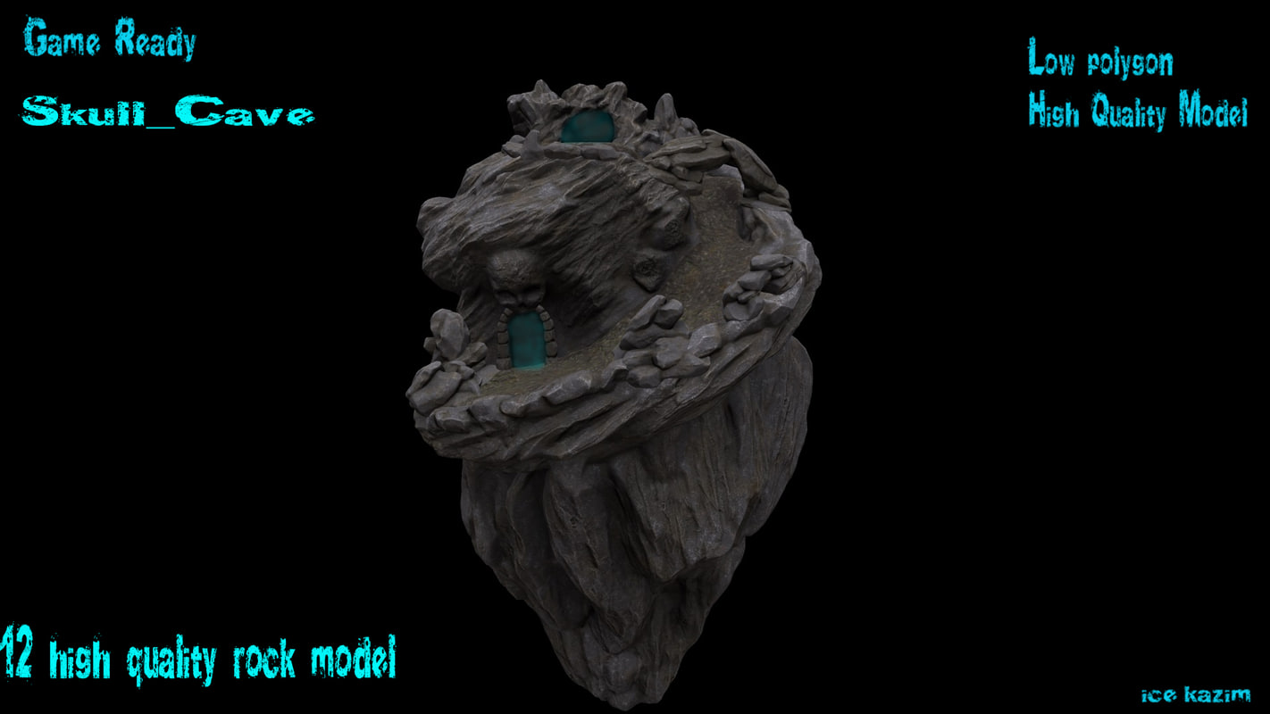 obj rock skull cave