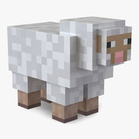 3d minecraft sheep model