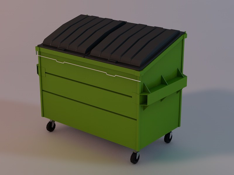 dumpster 3d obj