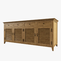 Restoration Hardware / Shutter Low Cabinet