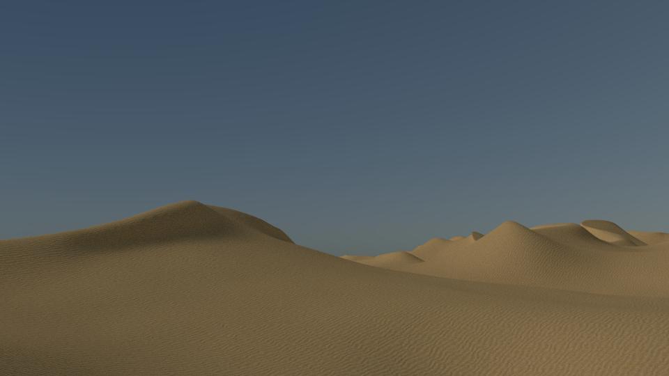 3d desert sand dunes landscape
