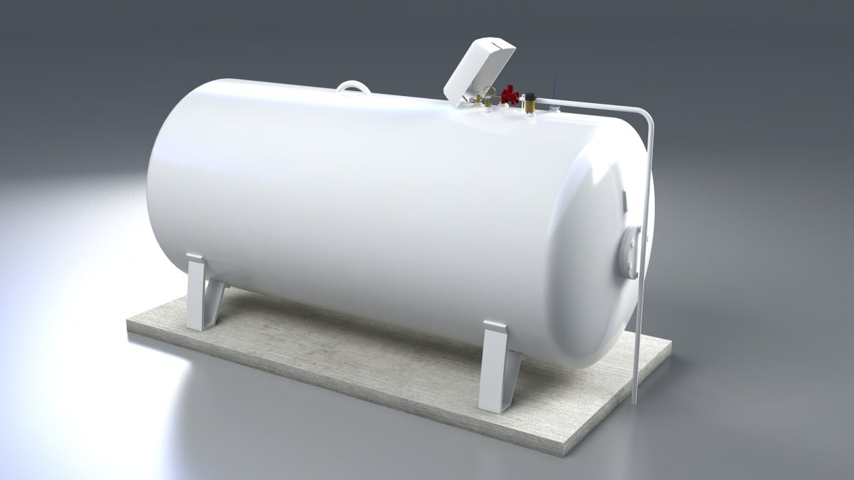 big gas tank 3d obj