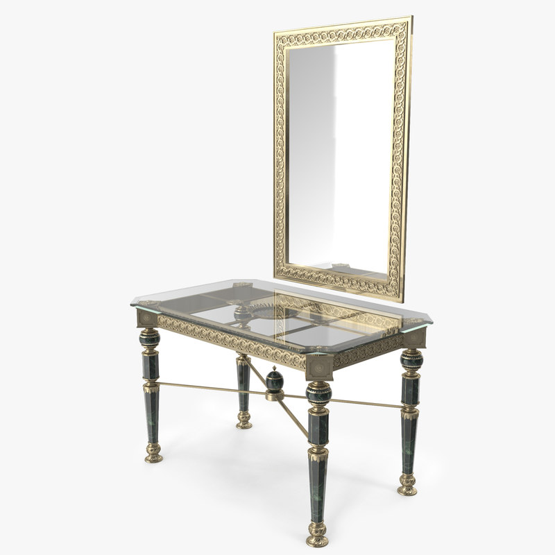 luxurious console table 3d model