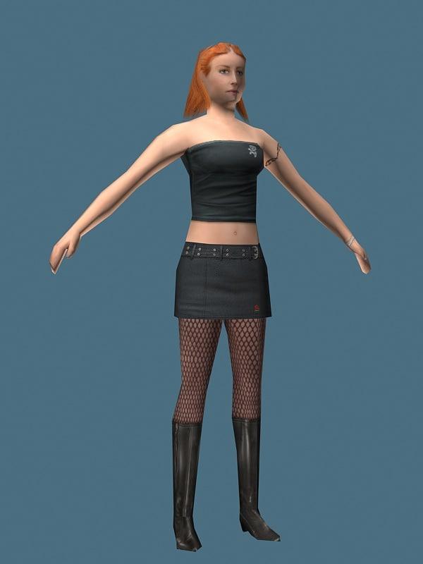 heel girl 3d 3ds