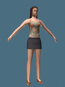 heel girl 3d model