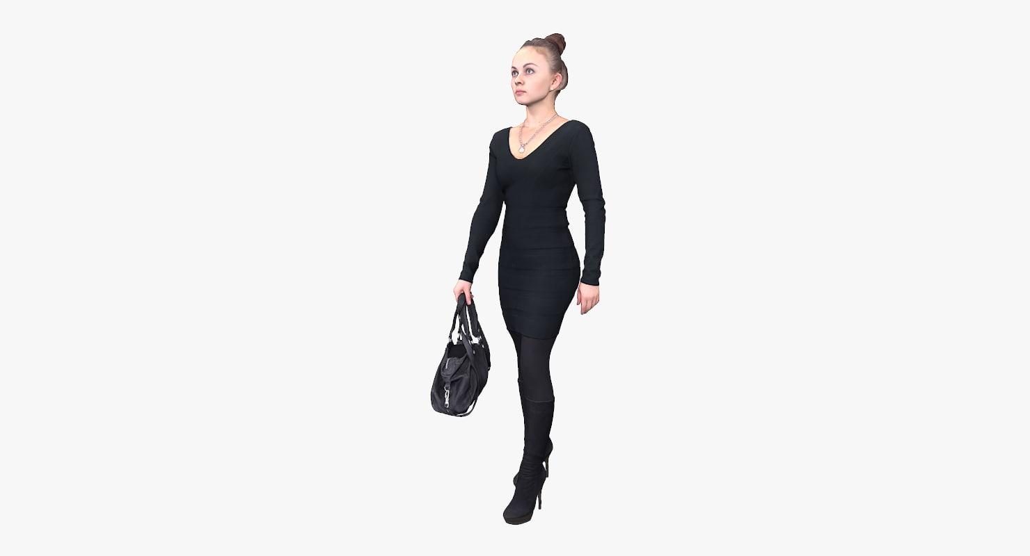 3d model woman bag