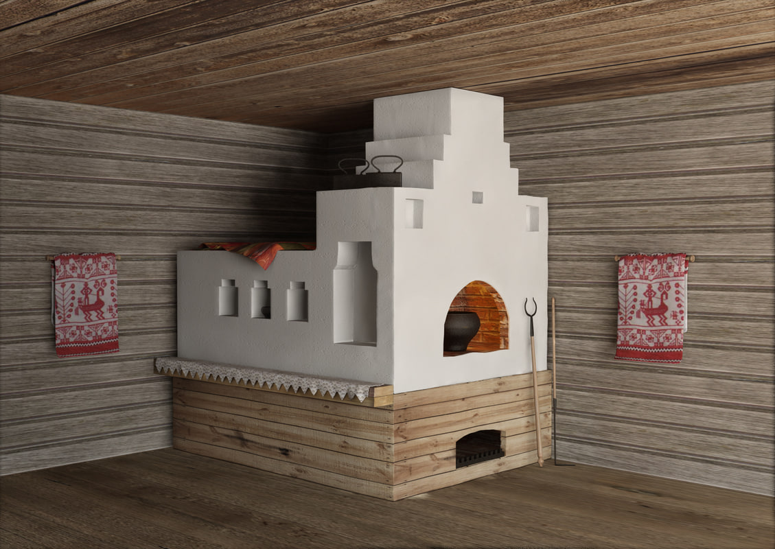 3d russian stove