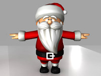 Santa claus Toon Model