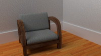accent chair wood blend