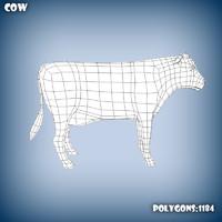3d model base mesh cow