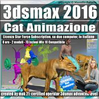 3ds max 2016 Cat Animazione Subscription 2 Computer