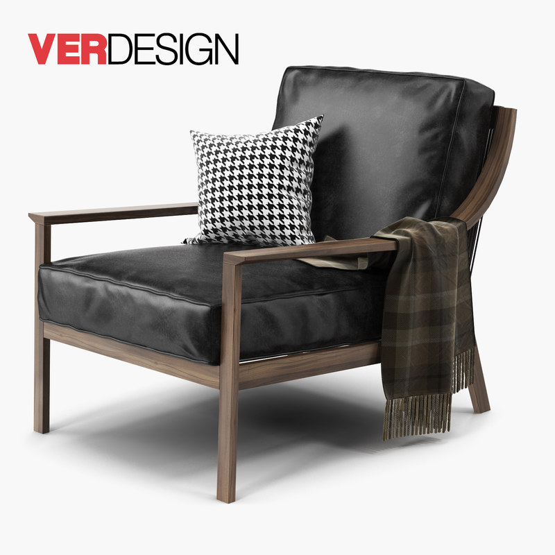 3d lady armchair verdesign model
