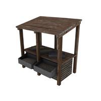 medieval trade shop 3d model