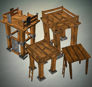 ready towers 3d model