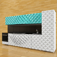3d modern kitchen set