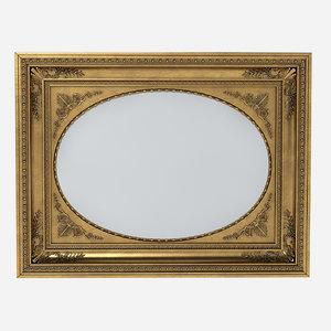 carved picture frame 3d max