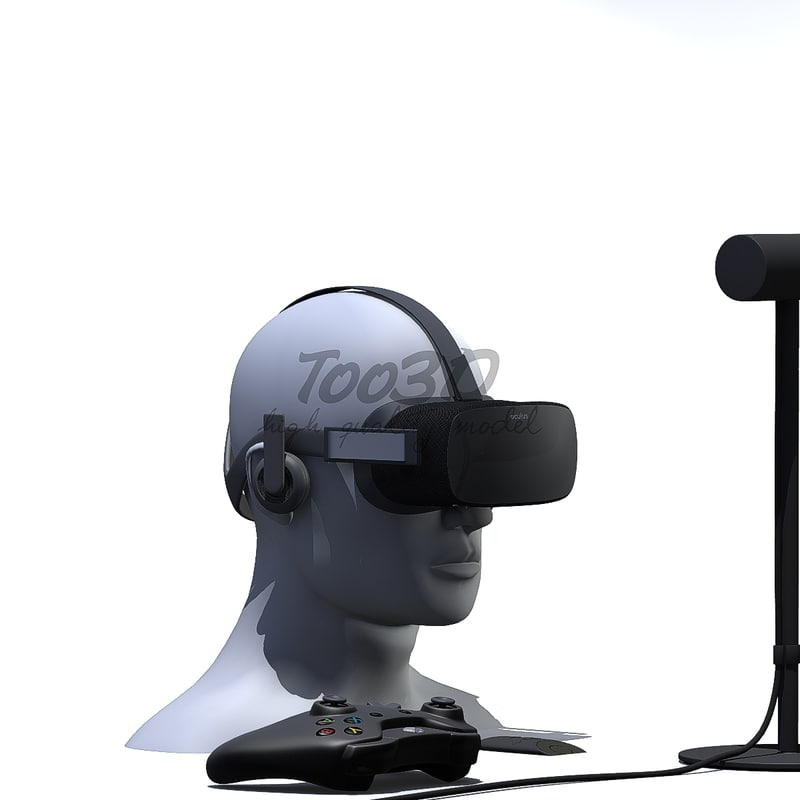 oculus visor 3d max