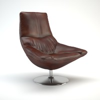 obj charlotta leather chair