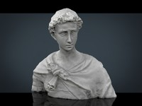 3d roman bust model