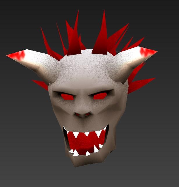 3d model skeleton head