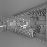 gym fitness interior 3d model