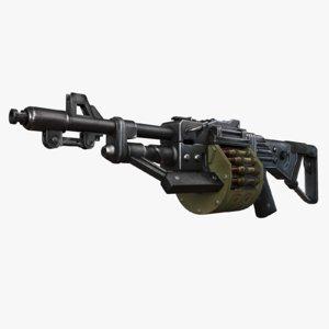 3d machine gun bullets