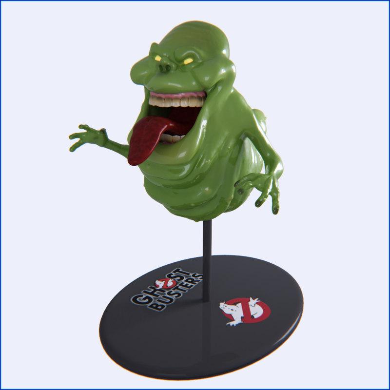 3d model ghostbusters slimer