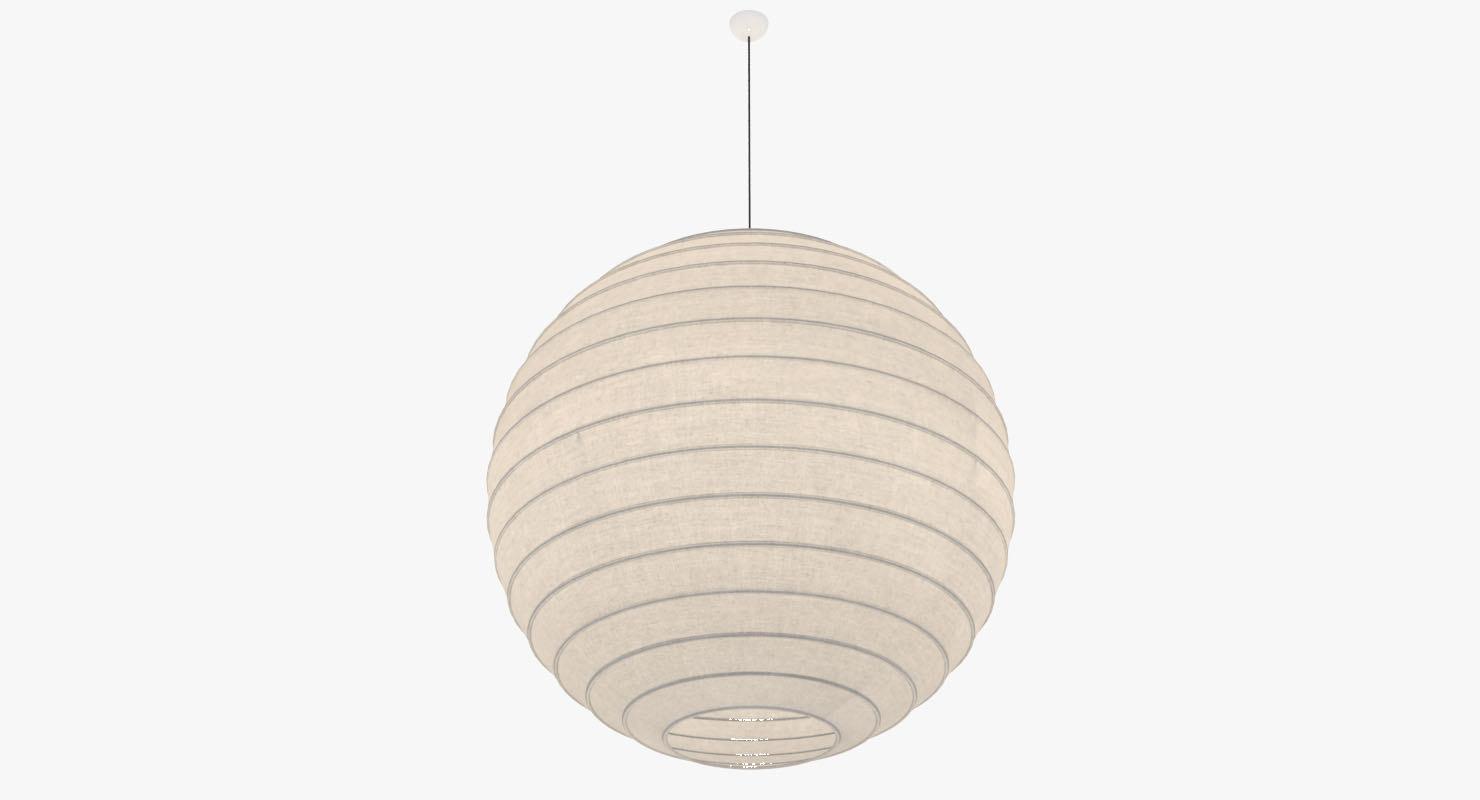 3d lamp sphere model