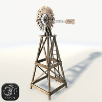 Windpump low poly