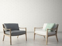 3d model custom designed armchair