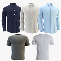 3d model shirts set