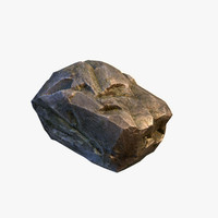 mossy boulder 3d max