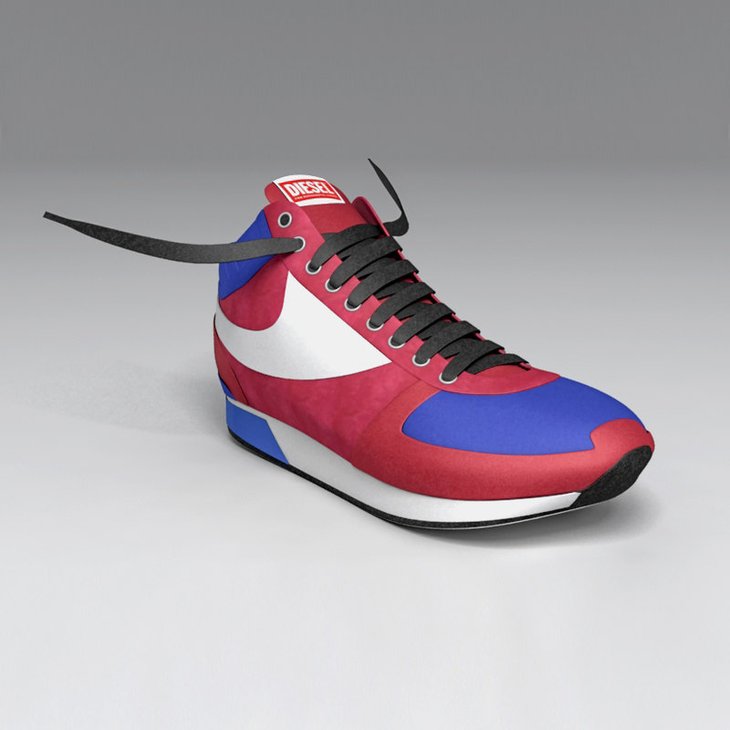 3d model diesel shoe