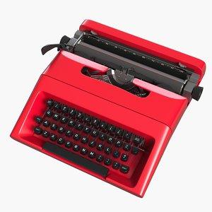 3d model typewriter p