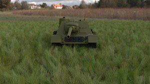 3d model soviet tank destroyer hdri
