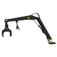 3d model forestry knuckleboom loader crane