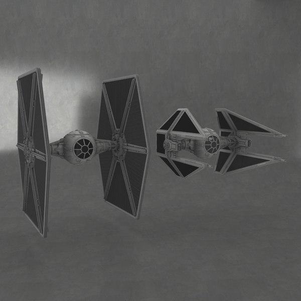 fbx tie fighter