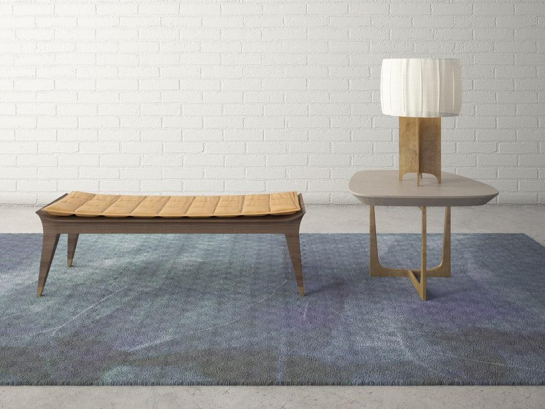 3d model of custom designed bench lamp