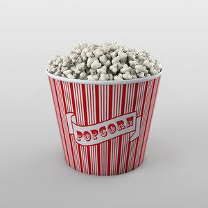 bowl popcorn c4d