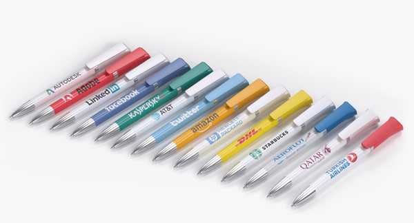 branded pens 3d max