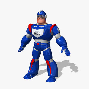 3d space hero cartoon
