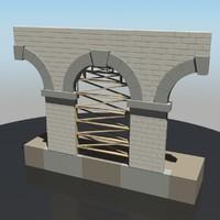 arch construction 3d model