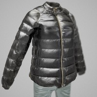 3d model shiny leather clothing