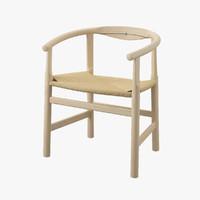 wegner pp201 chair hans j 3d model