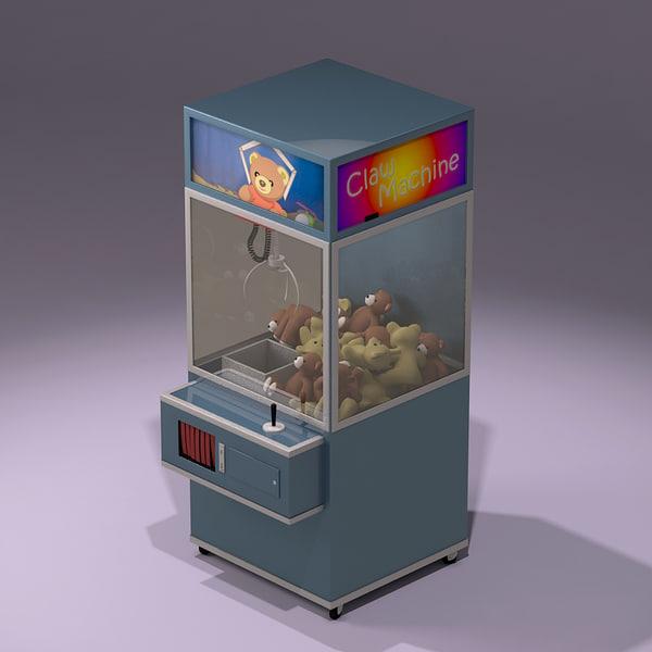 toy claw machine 3d max