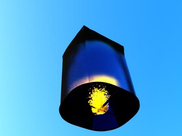3d sky lantern model