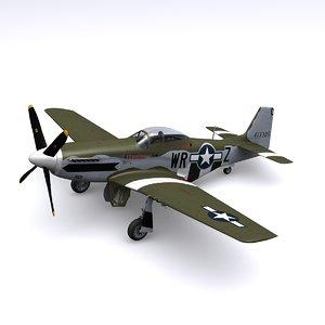 3d p-51 mustang fighter p-51d model