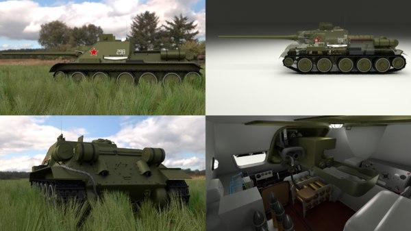 soviet tank interior engine fbx